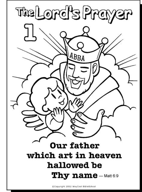 coloring pages for toddlers on prayer the lord s prayer coloring pages printable google search