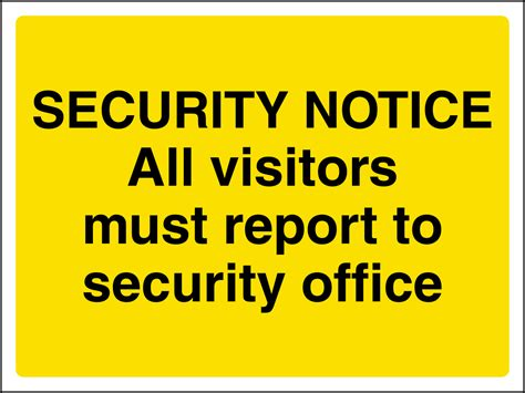 safe book report security all visitors report to security office