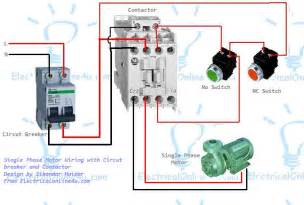 wiring diagram motor contactor images