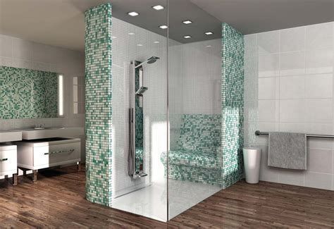Bathroom Shower Tile Design by Wedi Fundo Riolito Floor Level Shower Element With