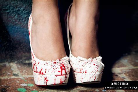 bloody pumps   halloween party shoes  bit rebels