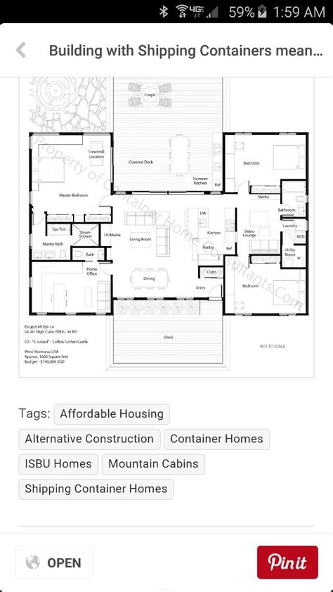 h shaped floor plans 418 best images about casas on pinterest