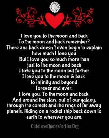 I Love You To The Moon And Back Quote by The Moon And Back Quotes Like Success