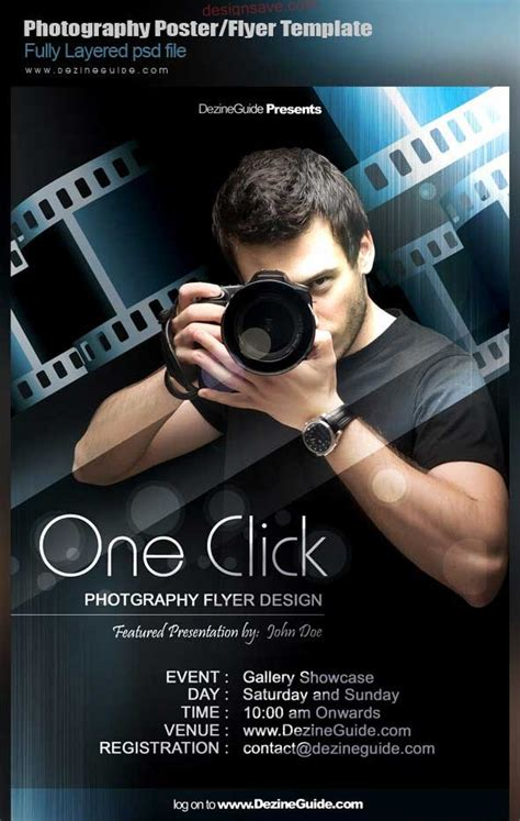 photographer design templates 15 best free psd poster templates for