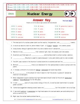 The Of Nye Nuclear Energy Worksheet an quot of nye quot nuclear energy en05 worksheet ans