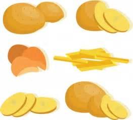 potato icons collection   yellow design