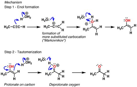 hydration of alkynes hydroboration and oxymercuration of alkynes master