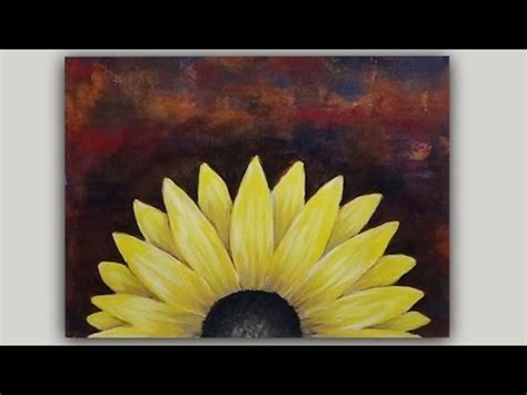 black background painting acrylic painting black eyed susan flower on an abstract