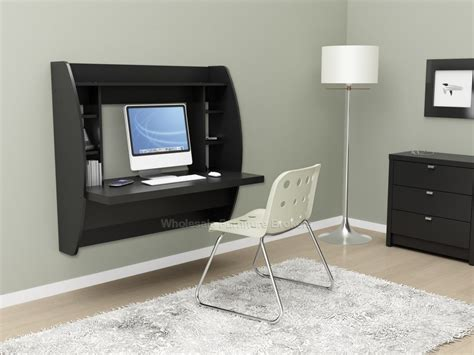 Wall Mounted Furniture | black wall mounted home office prepac furniture
