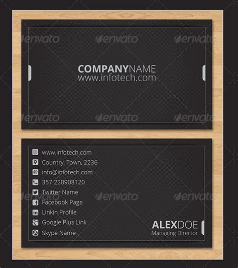 business card information template 18 information technology business cards free psd ai