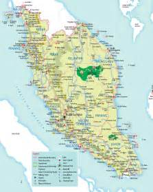 west road map detailed road map of west malaysia west malaysia detailed