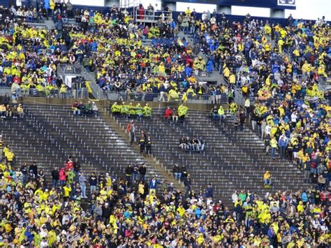 big house student section the communicator new student seating policy at the big house