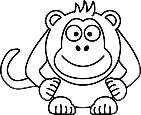 color timing black and white monkey clip at clker
