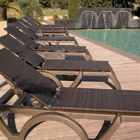 chaise lounge for pool deck java pool lounge chair with bronze mist frame and espresso