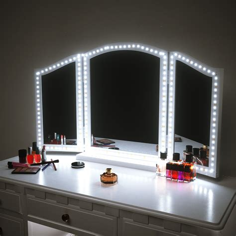 Vanity Desk Mirror With Lights by Houseables Trifold Vanity Mirror 3 Way 31 X