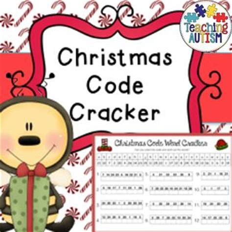 christmas code word cracker fun activity activities