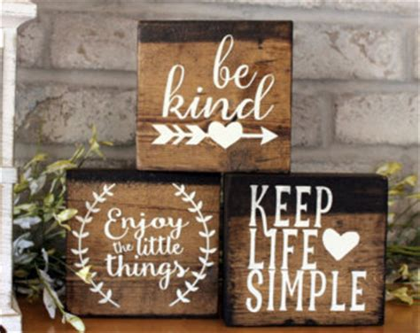 Home Decor Wooden Signs Sayings by Wooden Signs With Quotes Etsy