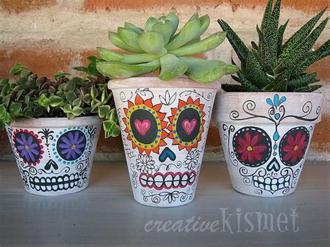 dia de los muertos crafts for make day of the dead planters 187 dollar store crafts