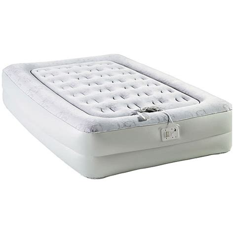twin inflatable bed aerobed elevated inflatable air bed mattress sleep in