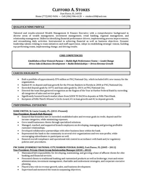 Relationship Manager Resume Sle by Best Resume For Bank Manager 28 Images Bank Branch Manager Resume Resume Sles Across All