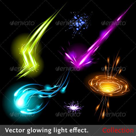 photoshop tutorial vector effect vector light effects set graphicriver