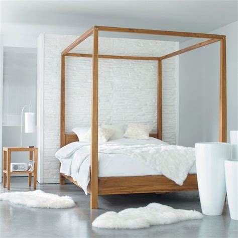 Javan Bed Canopy 160 X 200 Series letto a baldacchino 160 x 200 in massello di tek bedrooms master bedroom and interiors