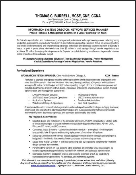 technical resume formats technical resume sle