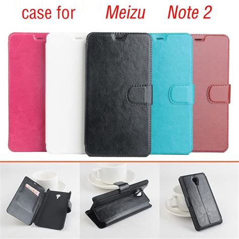 Back Cover Kulit Meizu M2 Note protective cover flip stand leather for meizu m2