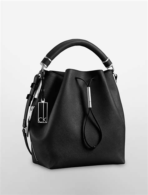 Ck Bag Backpack Black Ck20 calvin klein galey saffiano leather convertible drawstring bag in black lyst