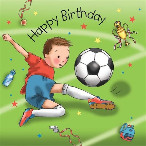 football birthday cards to make boys birthday card football tw670