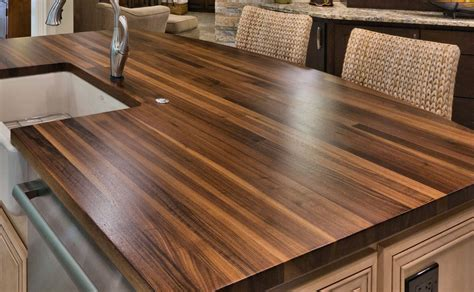 Natural Wood Kitchen Island by Construction Styles For Custom Wood Countertops