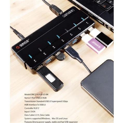 Orico Usb 2 0 High Speed Hub 7 Port 100cm Cable H7013 Murah 1 Orico Usb 3 0 High Speed Hub 7 Port H7928 U3 Black