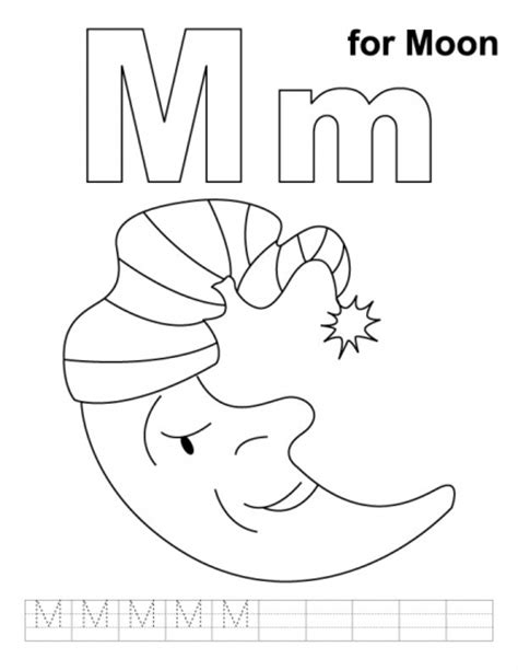 M Word Coloring Pages by Letter Mm Printable Coloring Pages Coloring Pages
