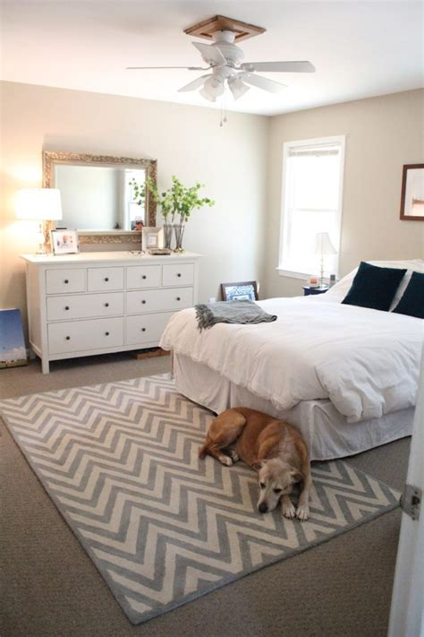 where to place a rug in a bedroom bedroom rectangle white grey rugs with zig zag pattern