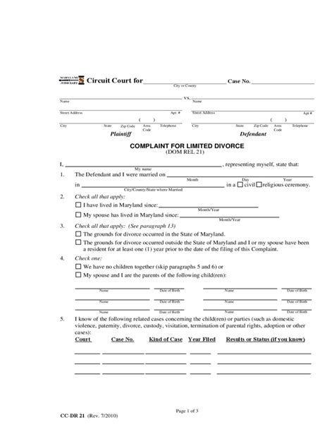 Maryland Divorce Records Free Maryland Divorce Forms Absolute Divorce Archives The Divorce Place For Maryland
