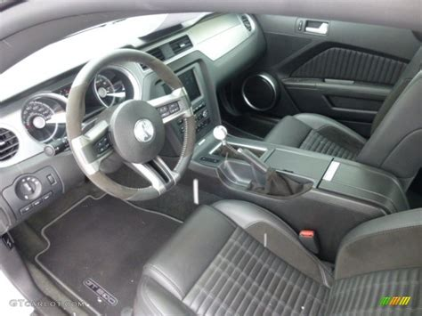 charcoal black black interior 2012 ford mustang shelby