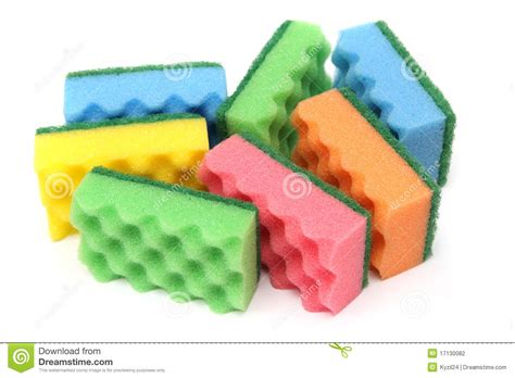 of multi colored sponges stock photography image