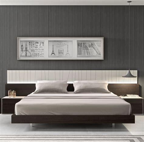 porto bedroom furniture porto natural light grey lacquer platform bedroom set from