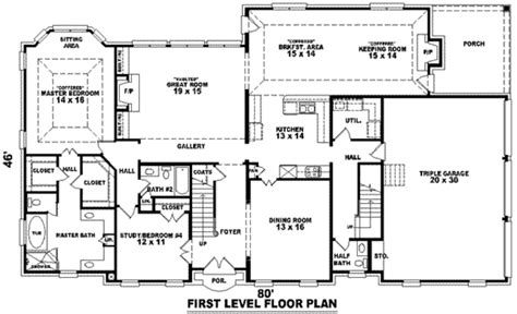 building plans for ranch style homes