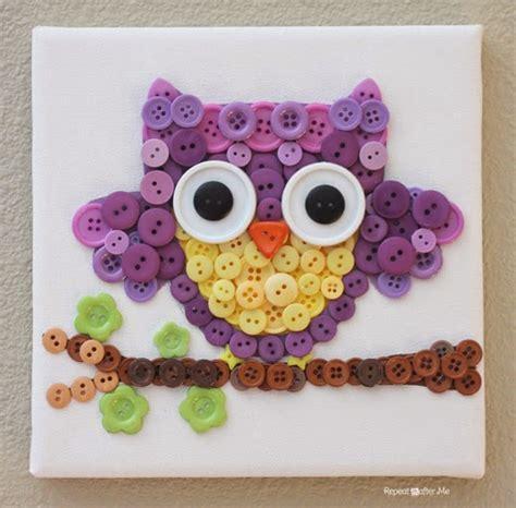 diy owl crafts diy button owl diy craft projects