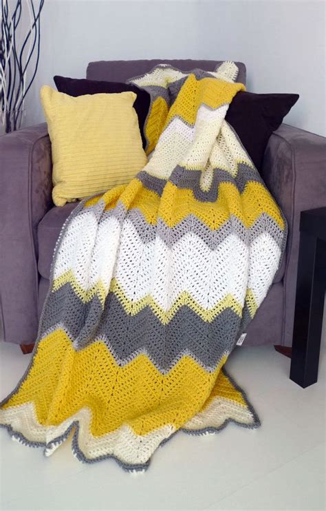 hello throw rug hello yellow afghan crochet chevron blanket gt made to order afghan crochet this and