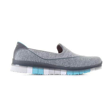 sketcher slip on sneakers womens skechers go flex charcoal blue lightweight activity