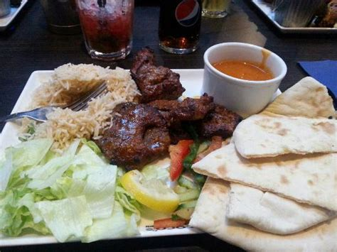 coco queensway mixed grill with spice rice and bottomless pepsi not