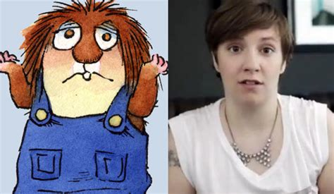 lena dunham little critter back of the cereal box with it being a winning