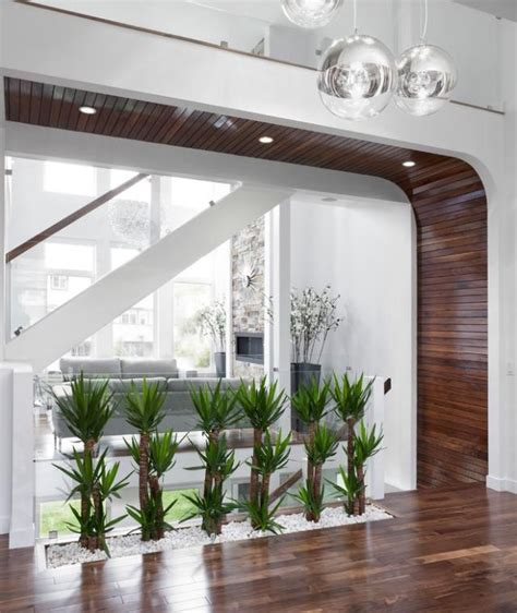 wand aus glasbausteinen pflanzen deko ideen flur modernes haus kies wei 223 glas wand