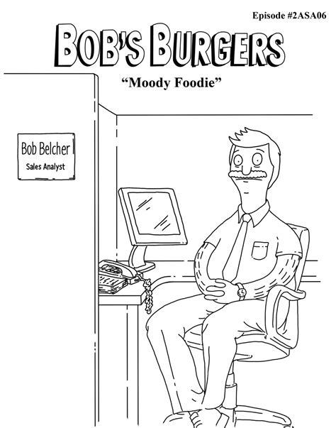 bob s burgers coloring book books image moody foodie jpg bob s burgers wiki fandom