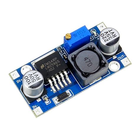 Modul Step Lm2596 Dc Dc Buck Converter 3a addicore lm2596 adjustable dc dc switching buck converter