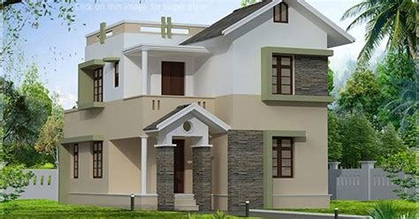 1400 square feet small villa elevation   House Design Plans