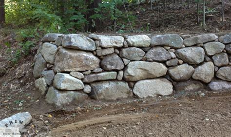 freestanding rock wall project photos prime construction nh