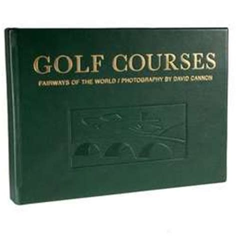 leather bound golf courses coffee table book findgift
